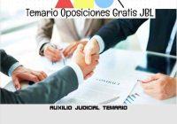 temario oposicion AUXILIO JUDICIAL TEMARIO