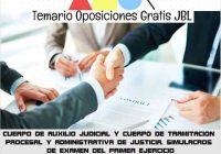 temario oposicion CUERPO DE AUXILIO JUDICIAL Y CUERPO DE TRAMITACION PROCESAL Y ADMINISTRATIVA DE JUSTICIA. SIMULACROS DE EXAMEN DEL PRIMER EJERCICIO