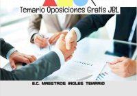 temario oposicion E.C. MAESTROS INGLES TEMARIO