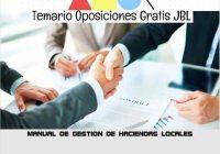 temario oposicion MANUAL DE GESTION DE HACIENDAS LOCALES