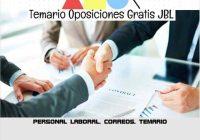 temario oposicion PERSONAL LABORAL. CORREOS. TEMARIO