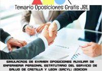temario oposicion SIMULACROS DE EXAMEN OPOSICIONES AUXILIAR DE ENFERMERIA PERSONAL ESTATUTARIO DEL SERVICIO DE SALUD DE CASTILLA Y LEON (SACYL) (EDICION ESPECIAL)